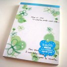 Q-lia lucky clovers memo pad