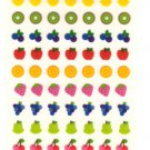 San-x seal market mini fruits sticker sheet 2002