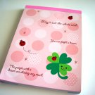 cute Daiso clover and ladybugs memo pad