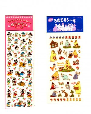 Sun-Star and Gakken TH small sticker sheet lot