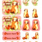Venice Japan raccoon rascal sticker sheet
