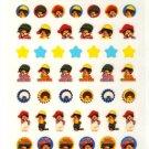 Q-lia monchichi sticker sheet
