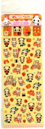 kawaii Q-lia hoka hoka bento sticker sheet