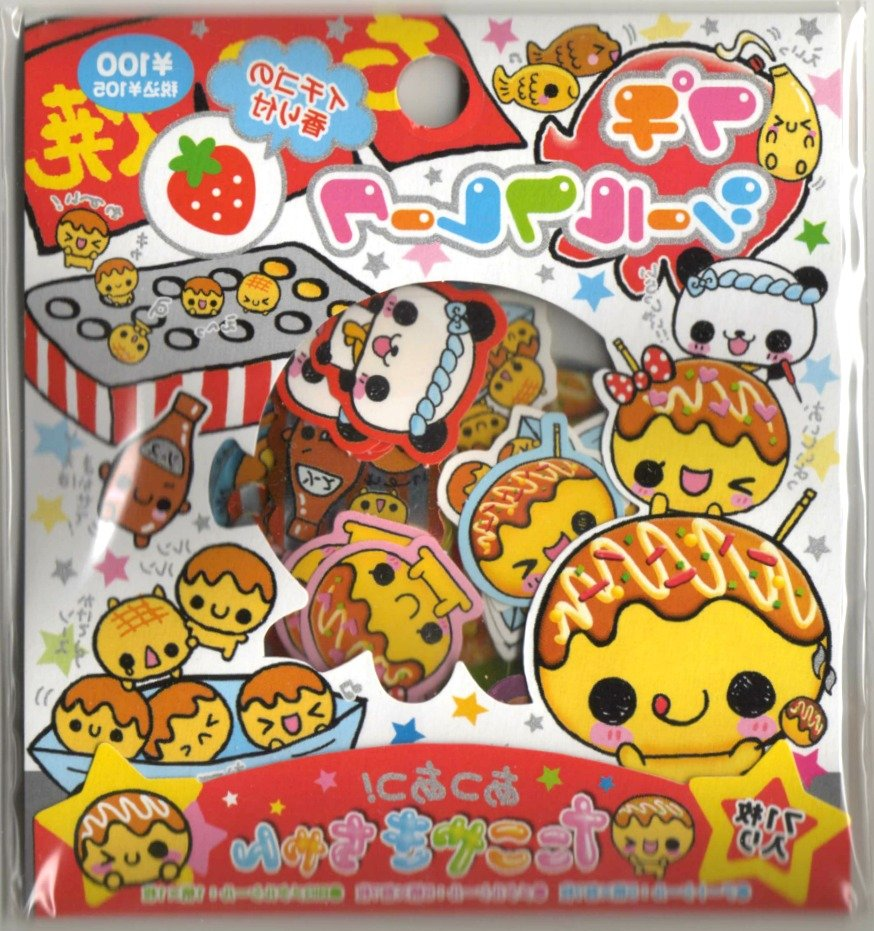 kawaii Kamio takoyaki sticker sack