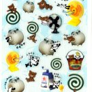 kawaii Preco panda summer sticker sheet