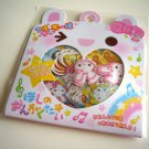 kawaii Q-lia musical animals sticker sack