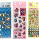 Sanrio Hello kitty, Sakamoto Pinky Dico, Ocha Ken sticker sheet lot