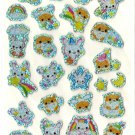 kawaii Phoenix Co. usagi and hamsters rainbow sticker sheet