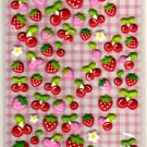 cute Kamio Japan puffy fruits sticker sheet USED
