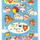 kawaii Crux koguma time blue sticker sheet