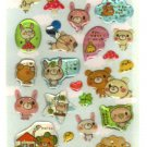 kawaii Crux koguma time hearts sticker sheet
