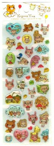 kawaii Crux koguma time hearts sticker sheet