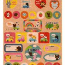 kawaii Kamio Japan animal message sticker sheet