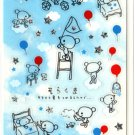 kawaii Mind Wave balloon bear sticker sheet