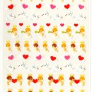 kawaii Mind Wave heart angels sticker sheet USED