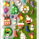 kawaii Mind Wave merry xmas puffy sticker sheet