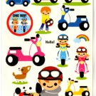 kawaii Mind Wave motor bike sticker sheet