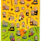 kawaii Mind Wave temple monks sticker sheet