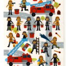 kawaii Q-lia firemen sticker sheet