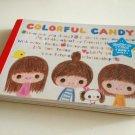 kawaii Kamio Japan colorful candy memo pad USED
