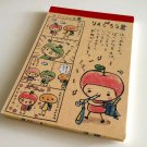 kawaii Q-lia apple girl memo pad USED
