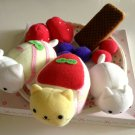 kawaii San-x nyanko desserts plush set 2003 USED