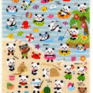 kawaii Mind Wave panda summer vacation sticker sheet