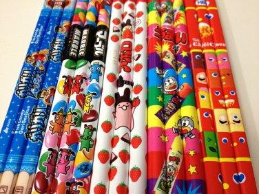 Sakamoto Apollo Chocolate, Doraemon, Marble, Caramel Corn, Ice Candy Gari Gari Kun wooden pencil lot