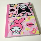 kawaii Sanrio My Melody and Kuromi memo pad USED