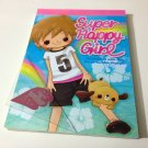 kawaii Kamio Super Happy Girl memo pad USED