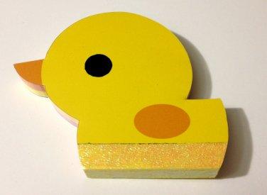 kawaii Kamio duck mini die cut memo pad USED