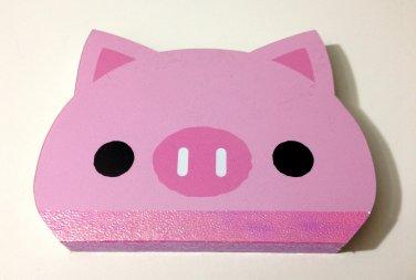 kawaii Kamio pig mini die cut memo pad USED