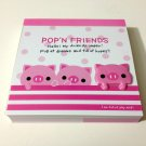 kawaii Kamio Pop'N Friends piglets mini memo pad USED