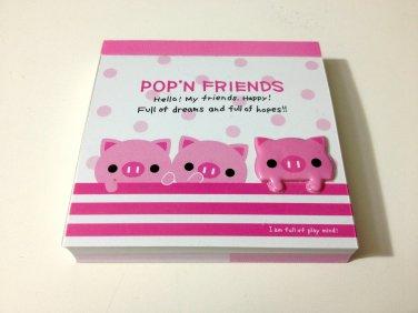 kawaii Kamio Pop'N Friends piglets mini memo pad USED