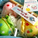 2003 San-x Nyanko Matsuri Festival Fish Plush Set