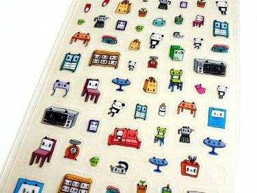 kawaii Kamio Japan Panda Furniture sticker sheet USED