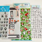 kawaii Kamio Mind Wave Gakkenth Aronzo Panda sticker sheet lot USED