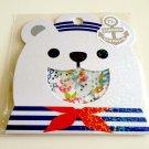 kawaii Mind Wave Polar bear summer vacation sticker sack