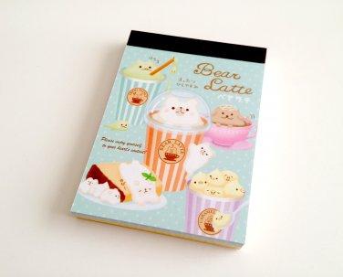 kawaii Kamio Japan Bear Latte mini memo pads
