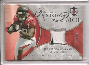 2006 Ultimate Jerious Norwood Rookie Patch