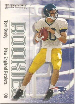 2000 Impact Tom Brady Rookie