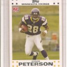 2007 Topps White Adrian Peterson Rookie