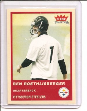 2004 Fleer Tradition Ben Roesthlisberger Rookie