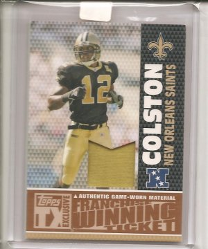 2007 Topps TX Marques Colston Patch