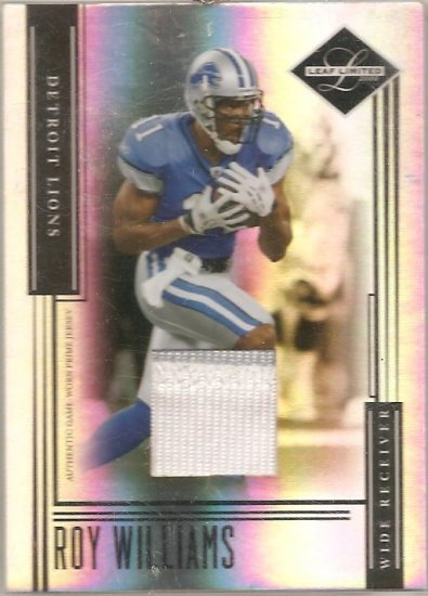 2006 Leaf Limited Roy Williams Patch