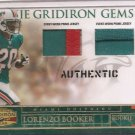 2007 Gridiron Gear Lorenzo Booker Dual Patch