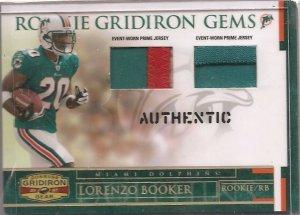 2007 Gridiron Gear Lorenzo Booker Dual Patch