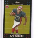 2007 Topps Chrome Marshawn Lynch Refractor Rookie