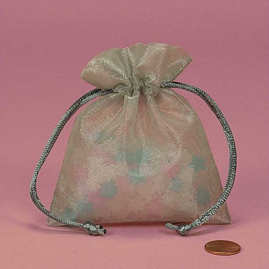Silver Metallic Small Gift Bag With Mini-Notecard ($1.25 with any purchase)