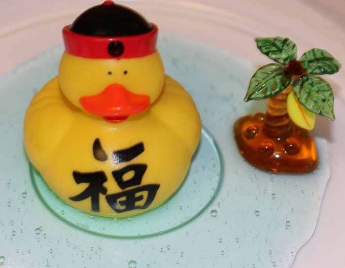 Fun Rubber Duckie (in chinese gear) - Set of 2